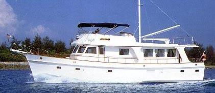 Un bateau de plaisance com